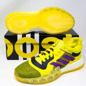 adidas Marquee Boost Low Yellow Purple G27743 sz 9